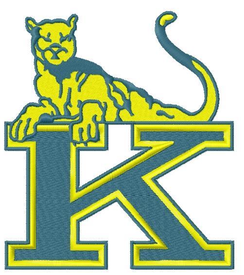 Henry J. Kaiser High School logo embroidery design
