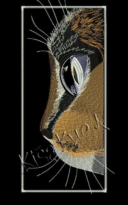 Half muzzle kitty free embroidery design