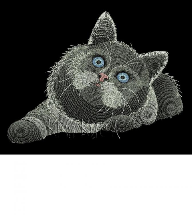 Persian Cat free machine embroidery design