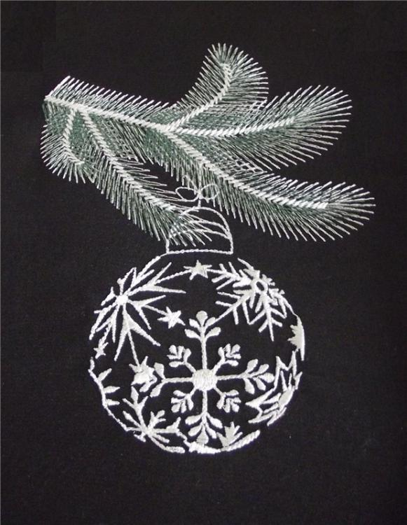 Embroidered christmas ball free design