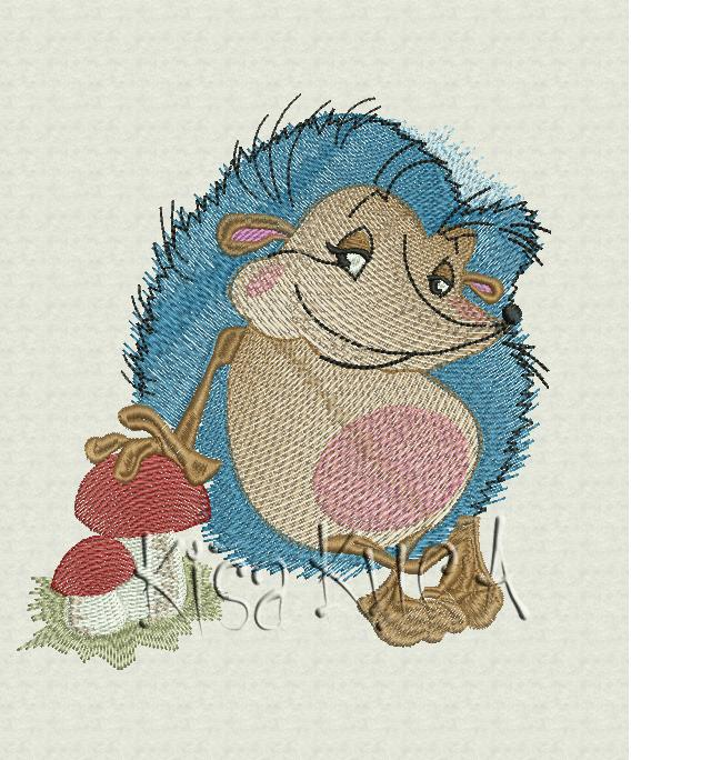 Small hedgehog free embroidery design