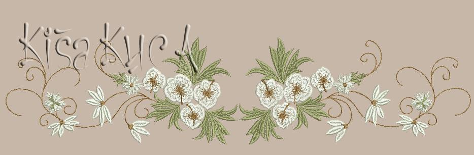 Spring flower decoration free embroidery design