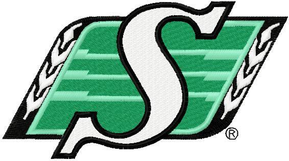 Saskatchewan Roughriders professional Canadian football club embroidery logo