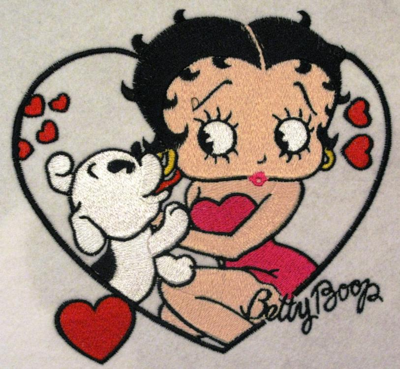 Betty boop embroidery design
