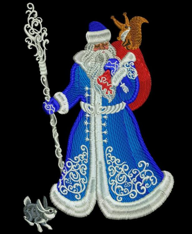 Santa Claus free machine embroidery design