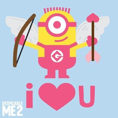 I love you minion clipart