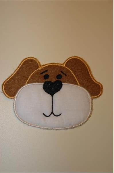 Dog face applique free embroidery design - Free embroidery designs