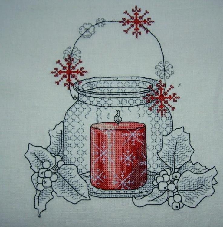 Christmas candle free embrodidery design