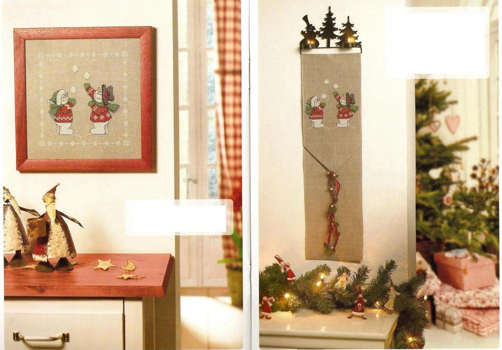 Christmas embroidery decoration for room