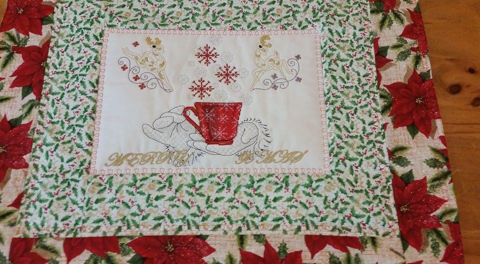 Christmas napkins embroidered
