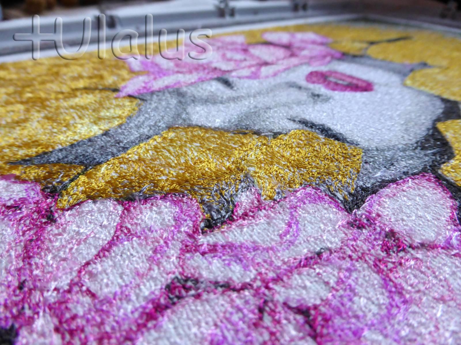 Magic woman photo stitch free embroidery design