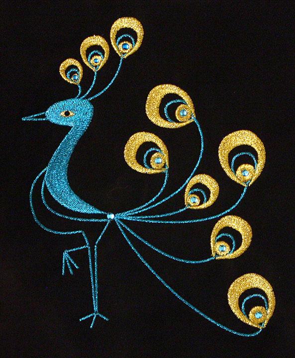 firebird embroidered design