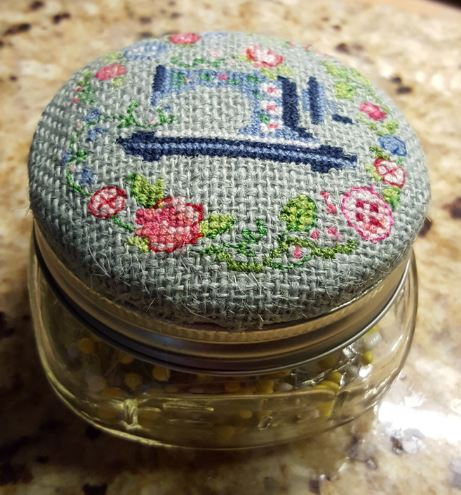 Pin cushion embroidered