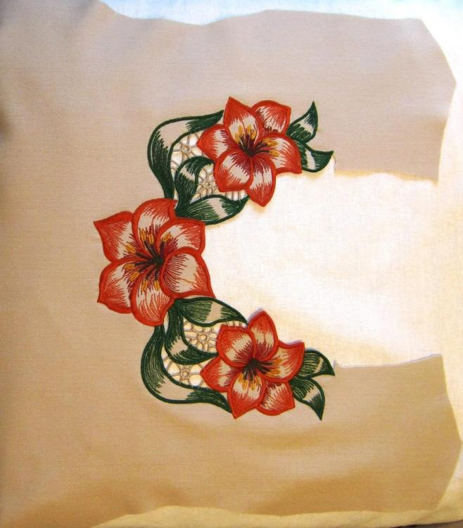 Embroidered dress decoration
