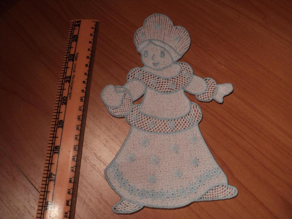 embroidered snow maiden design