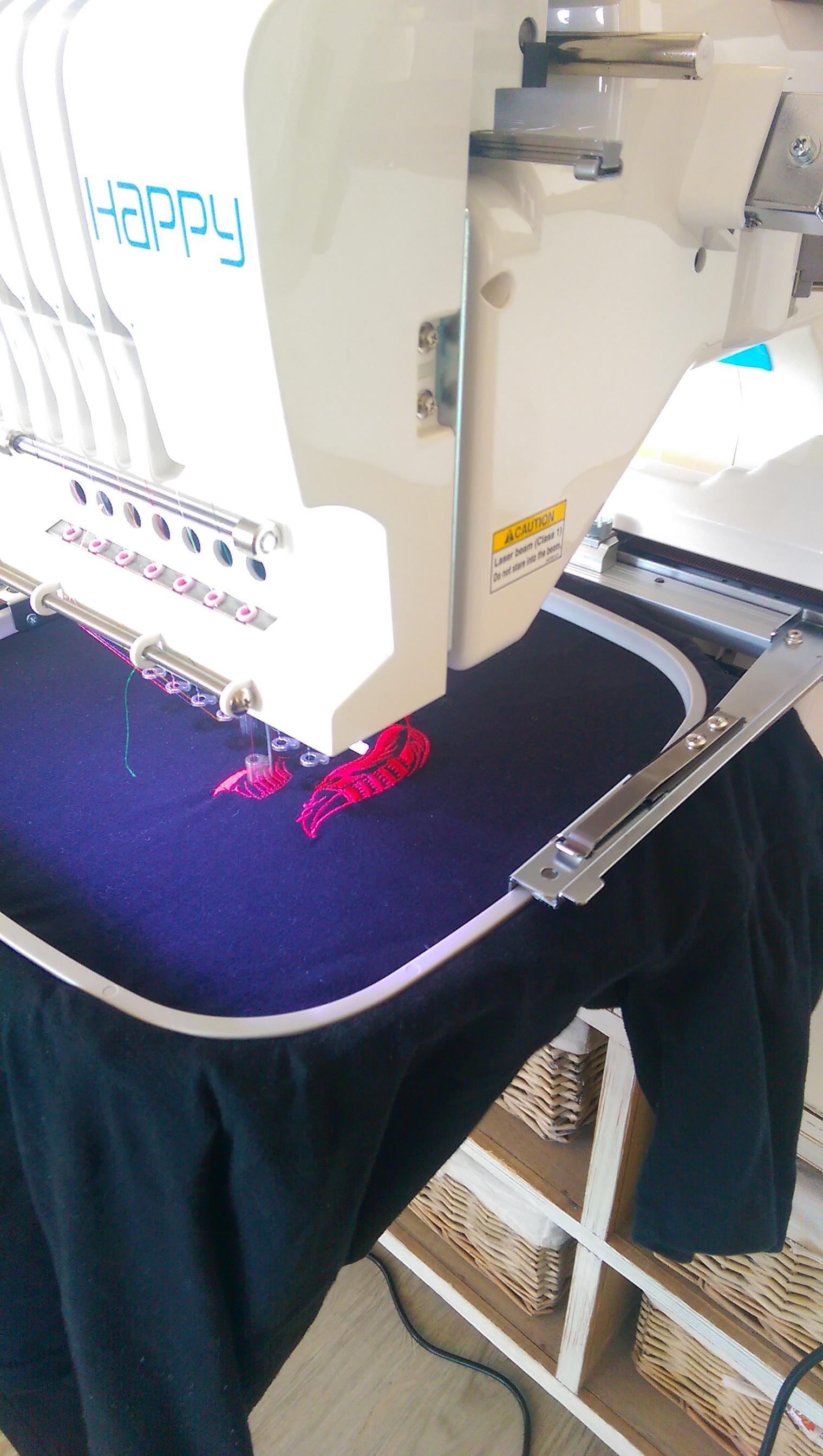 Dreamcatcher embroidery design on hoop
