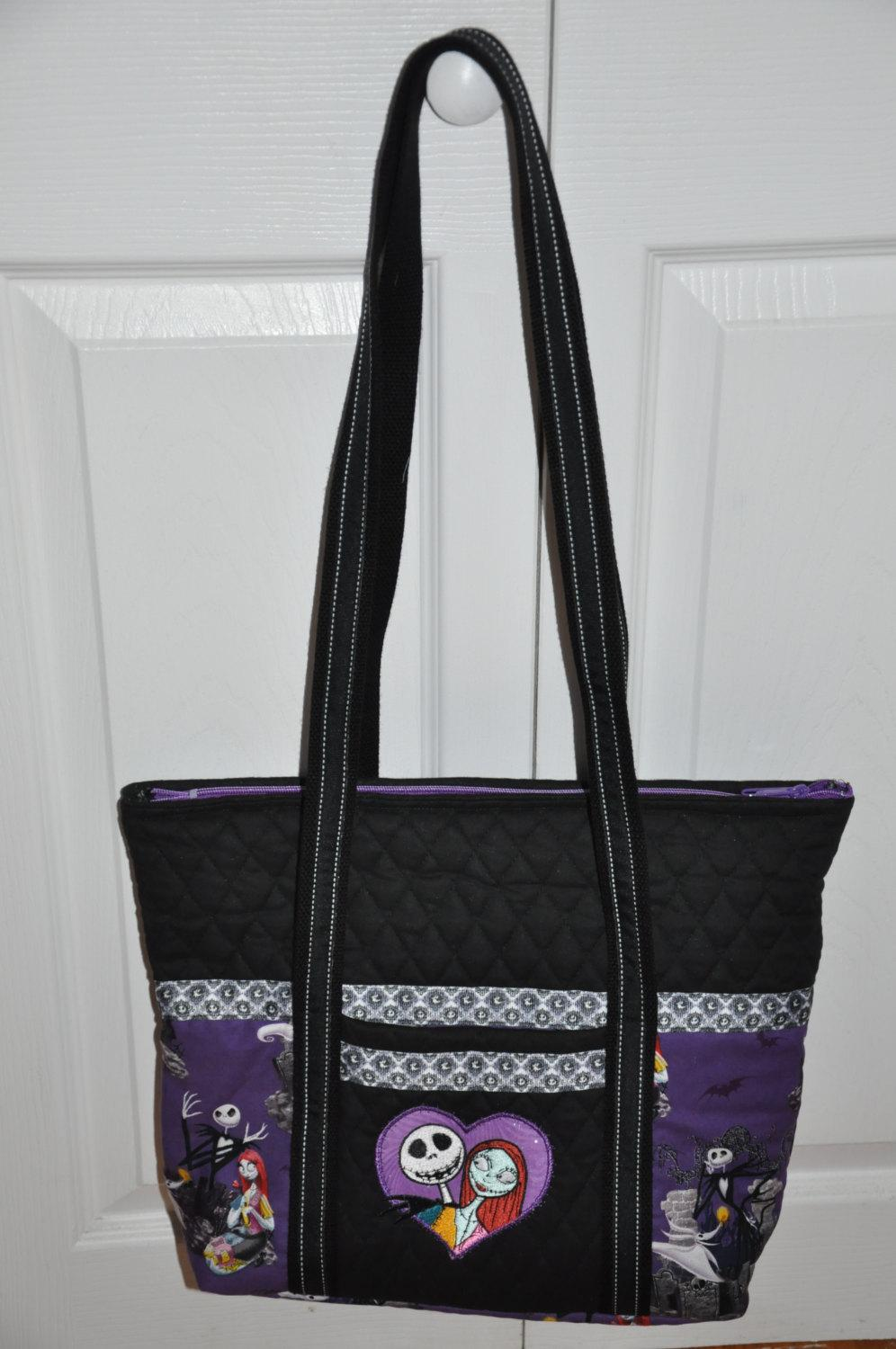 A bag with Jack and Sally from Nightmare Before Christmas design (another look)