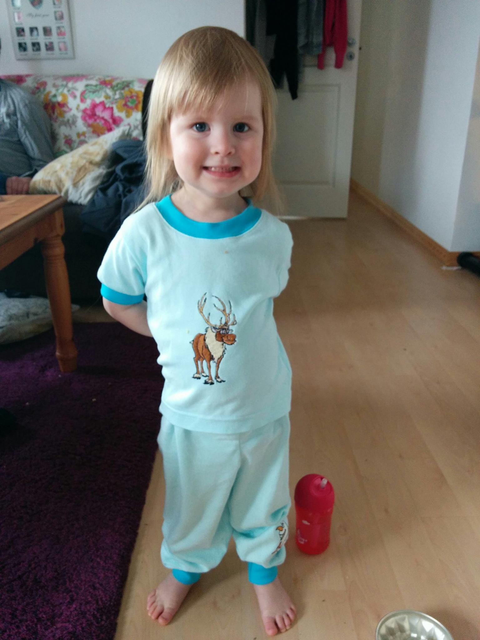 Pajamas with Sven the Reindeer embroidery design