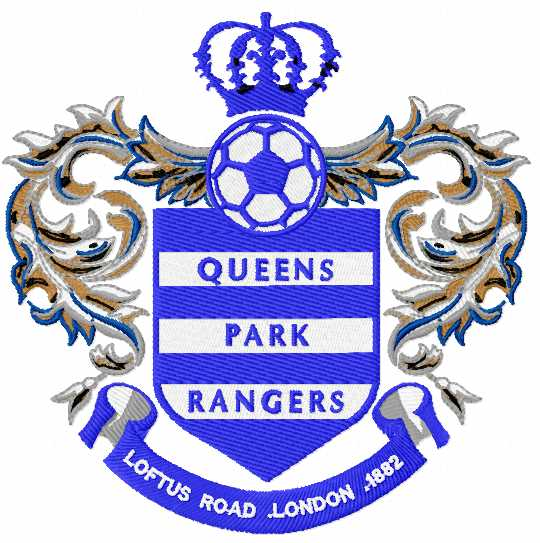 Queens Park Rangers logo embroidery design