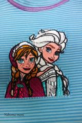 Long-sleeve T-shirt with Frozen sisters embroidery design