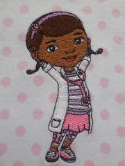 Kids pajamas with Dottie McStuffins aka Dottoressa embroidery design