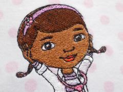 Pajamas with Dottie McStuffins aka Dottoressa Head embroideyrd esign