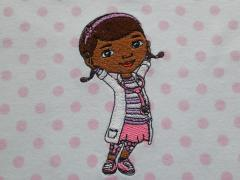 Kids pajamas with Dottoressa aka Dottie McStuffins embroidery design