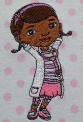 Kids' pajamas with Dottie McStuffins aka Dottoressa embroidered design costume