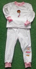Kids pajamas embroidered with Dottie McStuffins embroidery  and Lambie designs