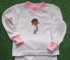 Kids pajamas with Dottie McStuffins aka Dottoressa embroidery design
