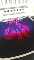 Work on Dreamcatcher embroidery design