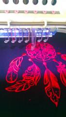 Dreamcatcher embroidery design in sewing machine