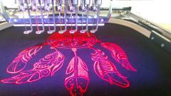 Dreamcatcher embroidery in hoop