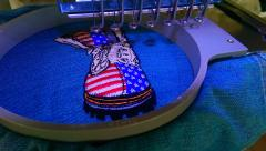In hoop American military boots embroidery design