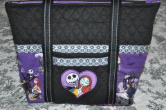 A bag with Jack and Sally from Nightmare Before Christmas 2 design