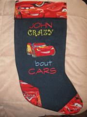 Socks with Lightning McQueen embroidery design