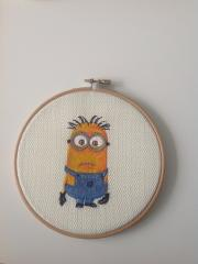 Framed minion embroidery design