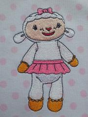 Kids' pajamas with Lambie the sheep embroidery design from Doc McStuffins Series