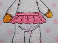 Lambie McStuffins embroidery design detail