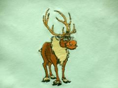 Sven the reindeer from Disney's Frozen embroidery design