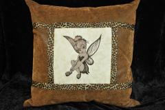 Embroidered pillow.with Fairy design