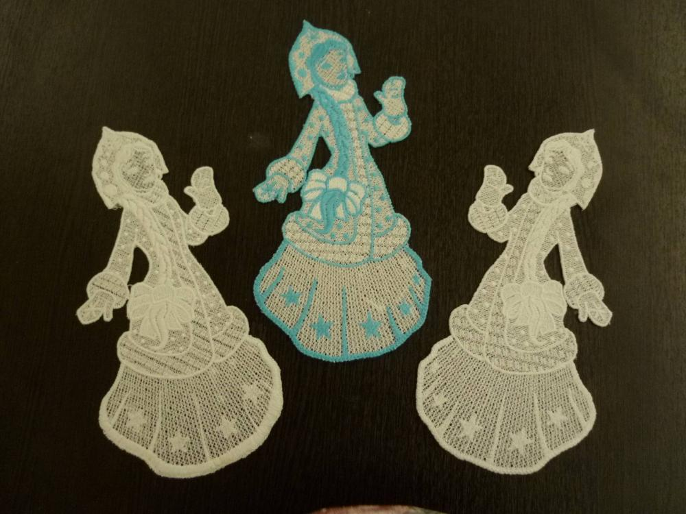 Snow maiden free embroidered