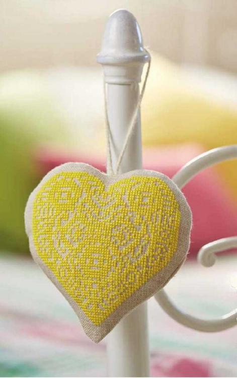 Heart embroidered design