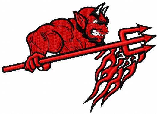 Hunterdon Central Regional High School logo embroidery design