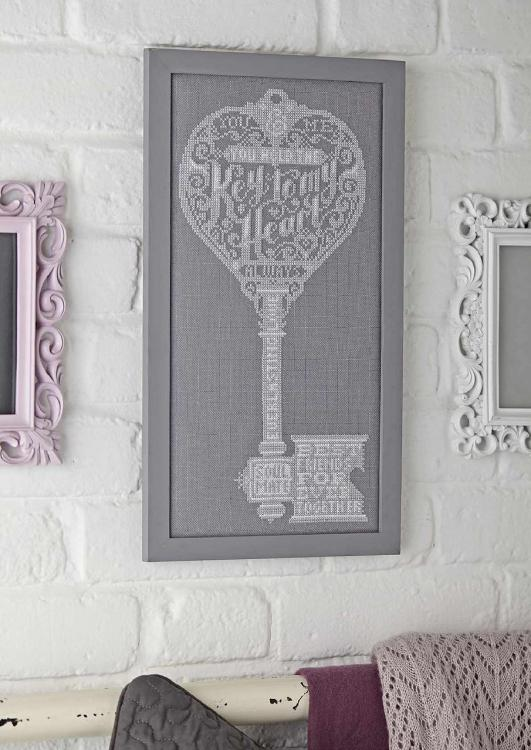 Key for my heart cross stitch free embroidery design