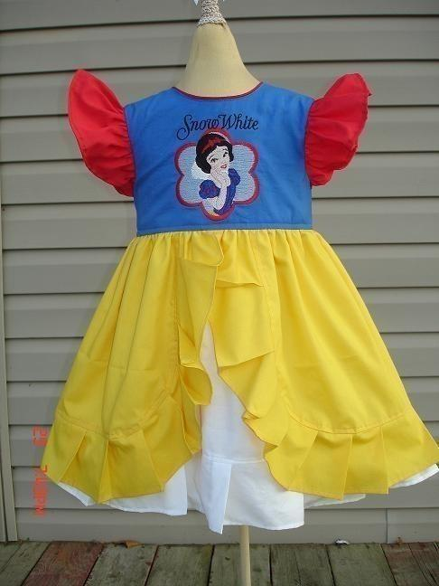 Snow White Dress with embroidery design
