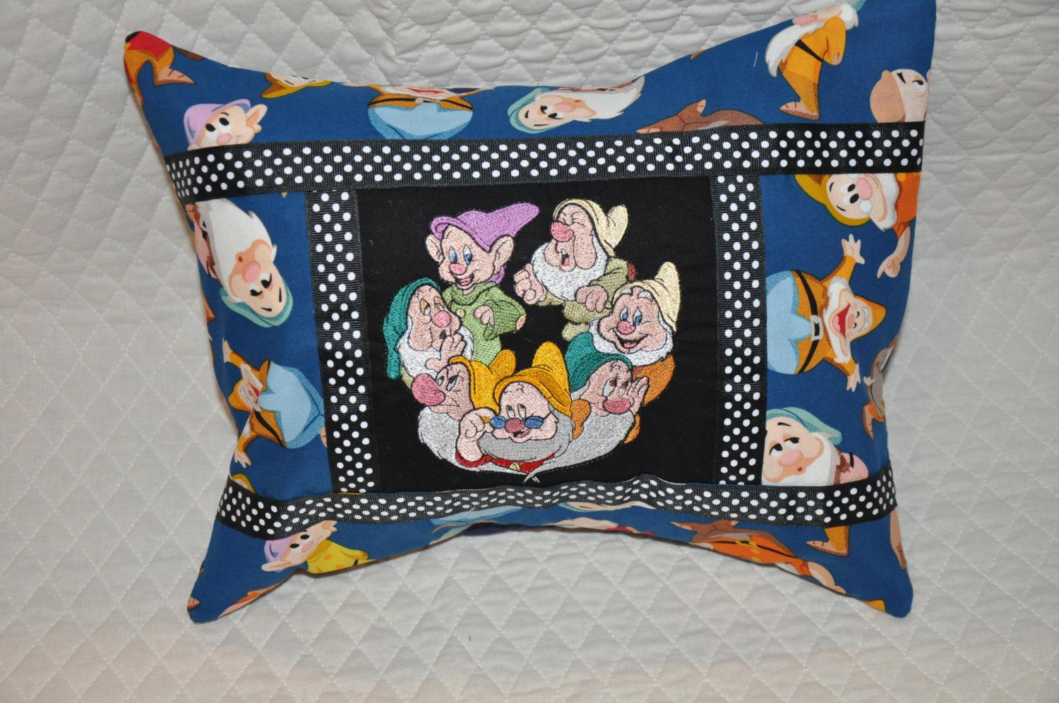 Pillow with Seven dwarfs embroidery design