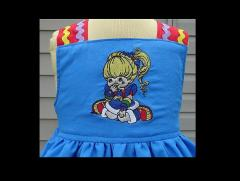 Rainbow Brite embroidered dress a clother look