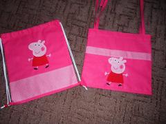 Peppa Pig embroidered bag