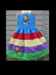 Dress with Rainbow Brite embroidery designs